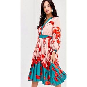 Ted Baker Yansiaa Floral Bell Sleeve Sheath Dress
